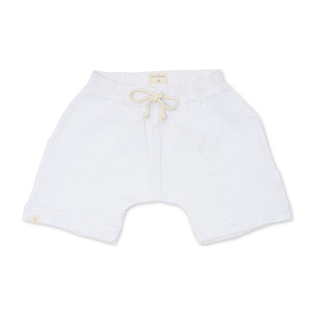 Gauze Oversized Shorts, Optic White