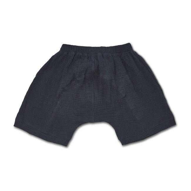 Gauze Oversized Shorts, Washed Black