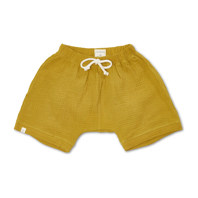 Gauze Oversized Shorts, Ochre