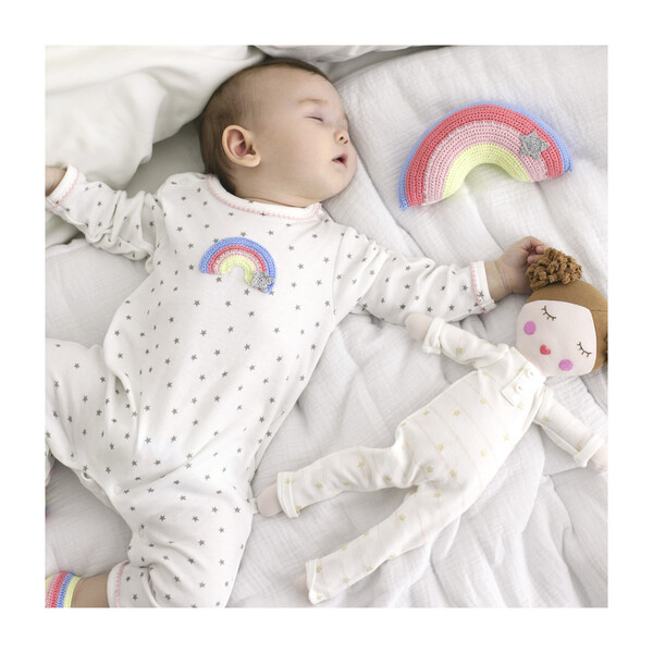 Crochet Rainbow Babygro