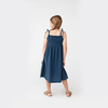 Rosie Smocked Dress, Navy Cotton Muslin - Dresses - 4