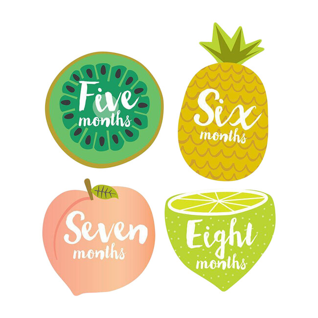 Little Tutti Frutti Monthly Baby Stickers