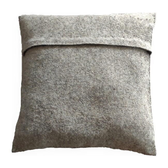 Wool Christmas Tree Pillow Cover, Grey