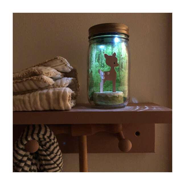 Mason Jar Solar Nightlight, Fawn