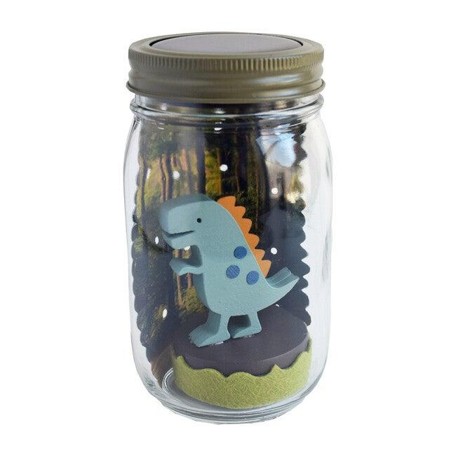 Mason Jar Solar Nightlight, Dinosaur