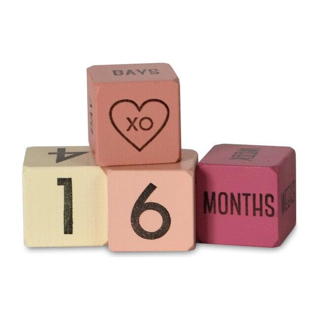 Baby Age Blocks, Mini Pink