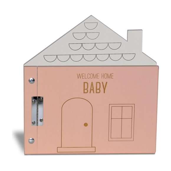 Welcome Home Baby Album, Pink/Grey