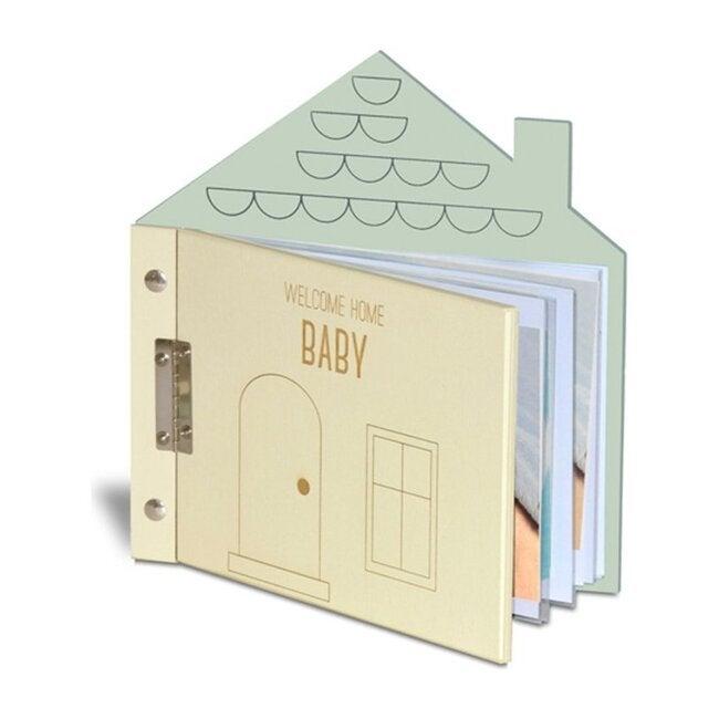 Welcome Home Baby Album, Cream/Mint - Keepsakes & Mementos - 1