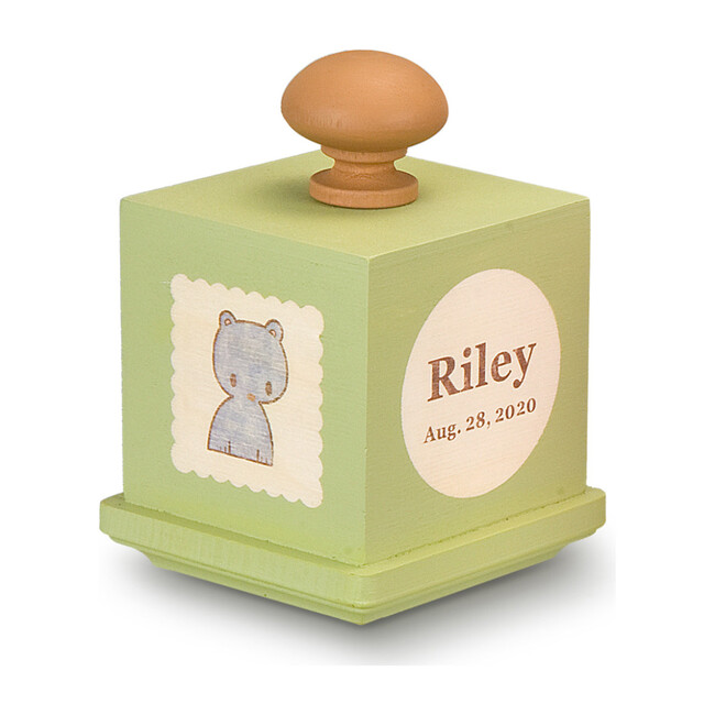 Personalized Music Box, Green - Accents - 1