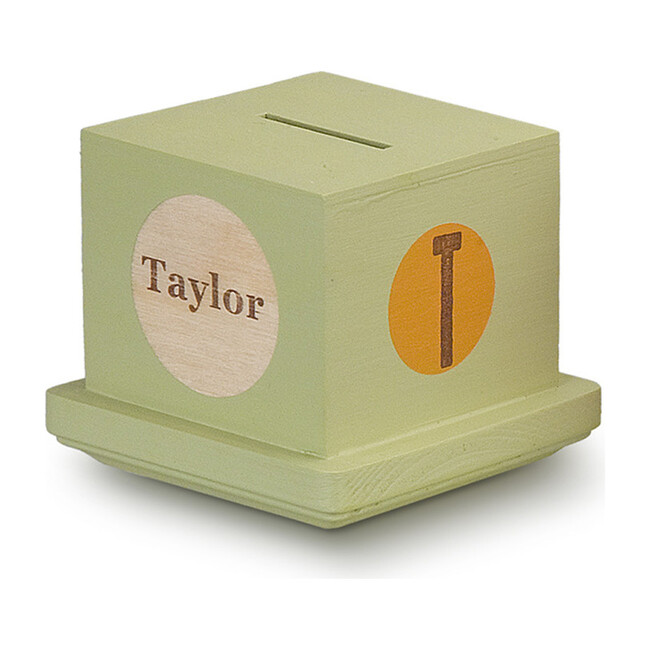 Personalized Money Bank, Green