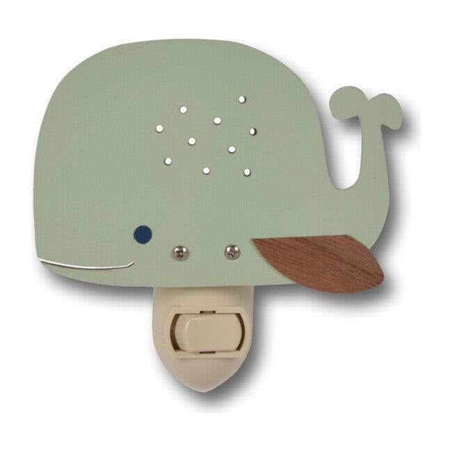 Handpainted Plug-In Nightlight, Mint Whale