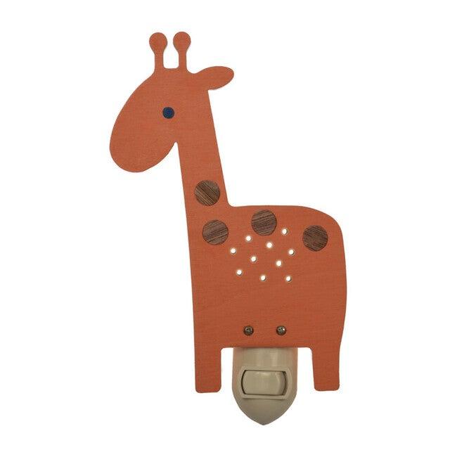 Handpainted Plug-In Nightlight, Orange Giraffe