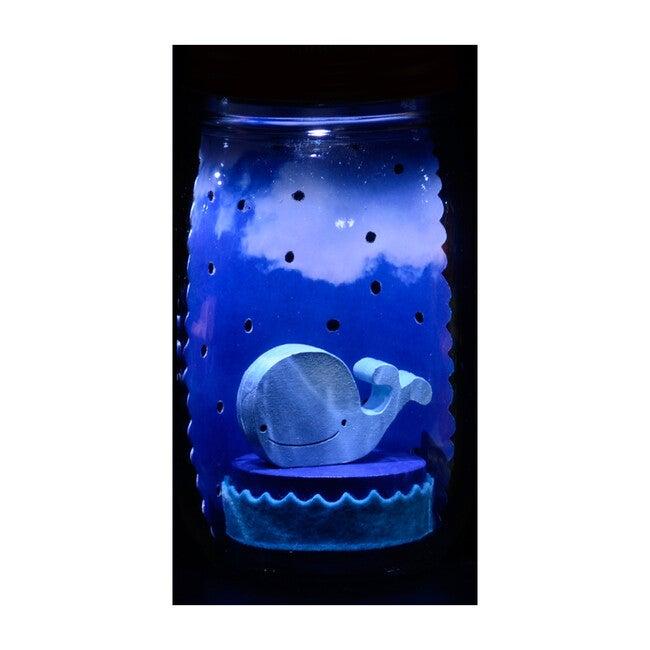 Mason Jar Solar Nightlight, Whale