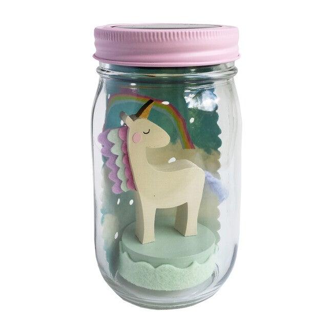 Mason Jar Solar Nightlight, Unicorn