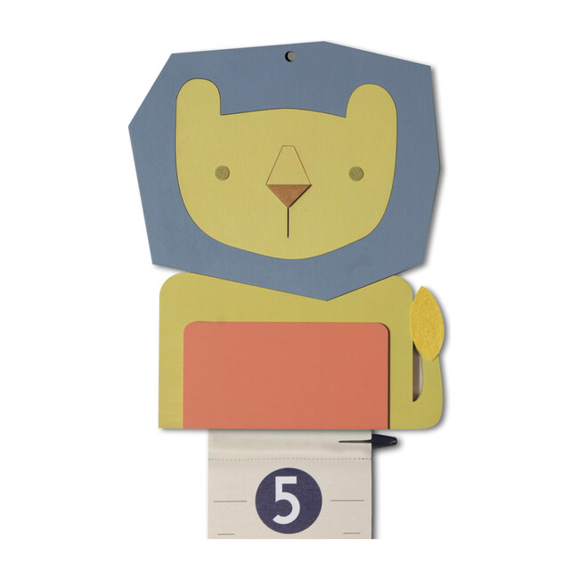 Personalized Wooden Growth Chart, Lion
