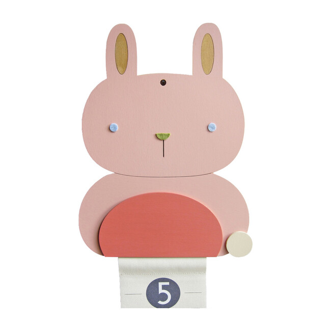 Personalized Wooden Growth Chart, Bunny