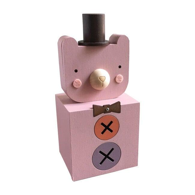 Dapper Bear Coin Bank, Pink