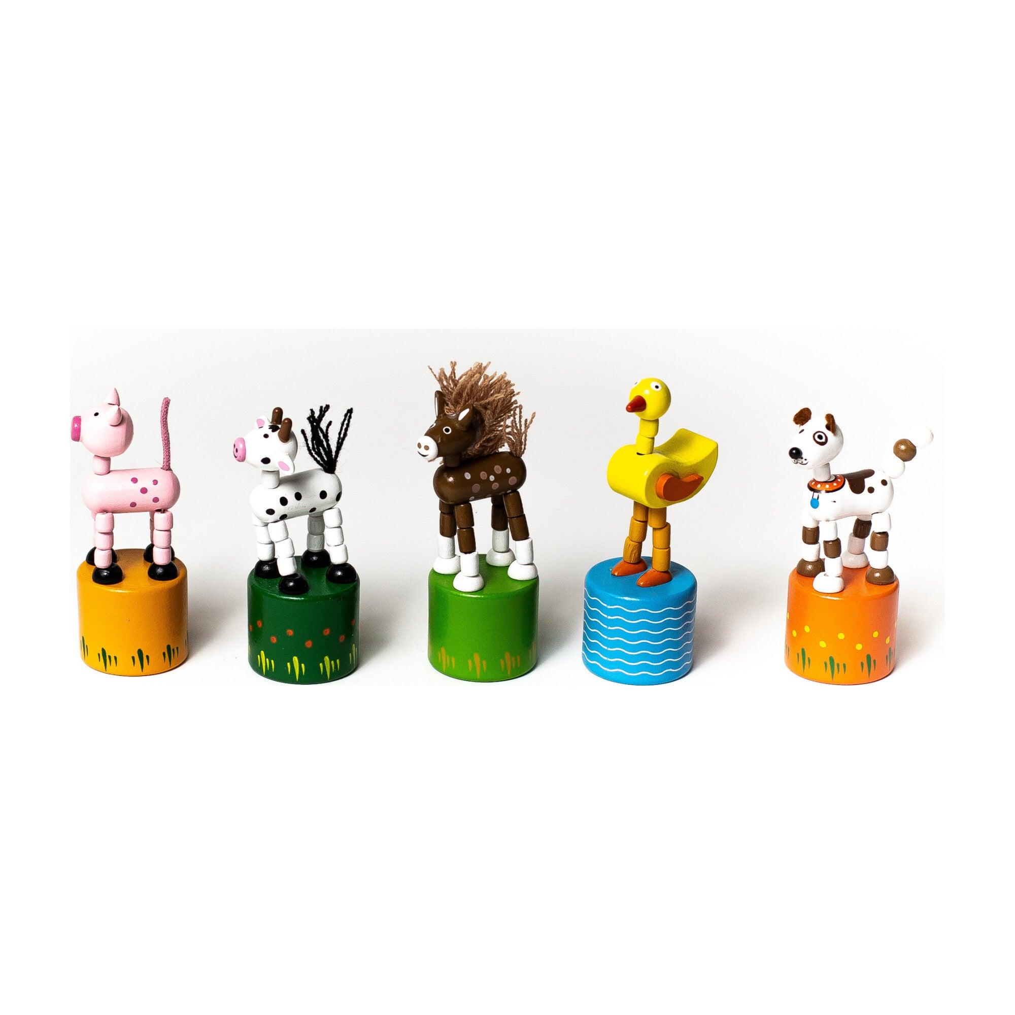 Farm Animals Push Puppets, Set of 5