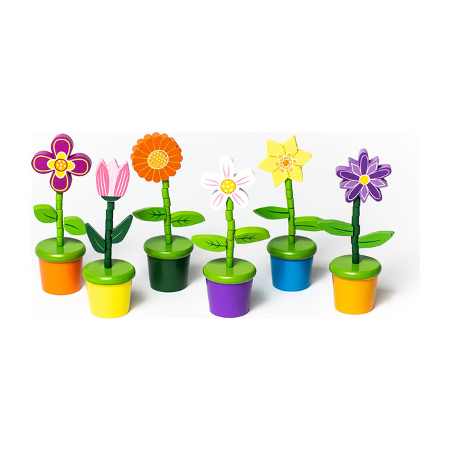 Flower Push Puppets, Set of 6