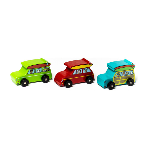 Surf's Up Dude Mini Rollers, Set of 3