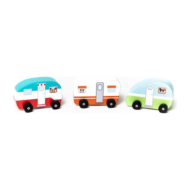 Mini Vintage Campers, Set of 3