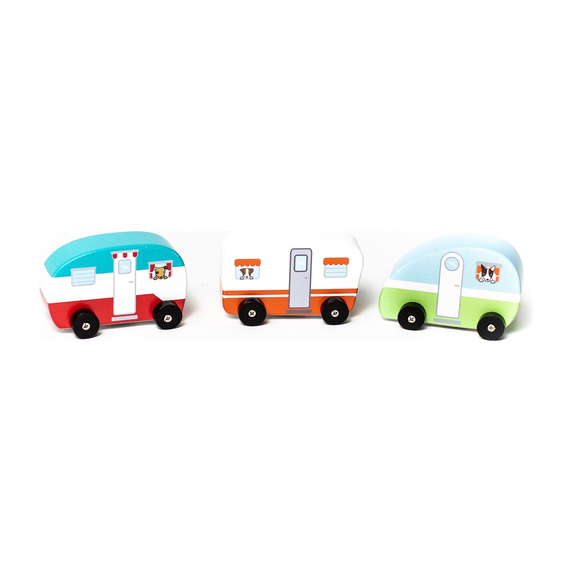 Mini Vintage Campers, Set of 3