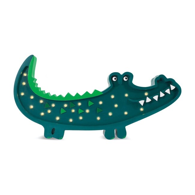 Crocodile Lamp, Green