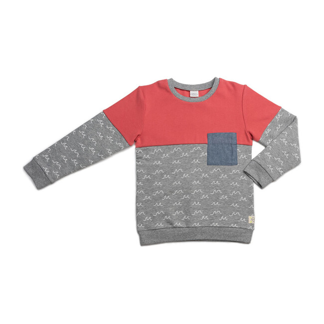 Vinnie Sweater, Grey Wave