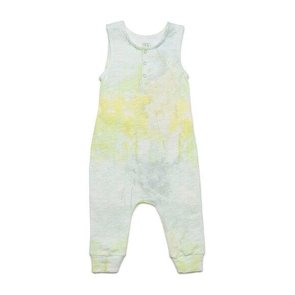 Dawson Romper, Yellow Tie Dye