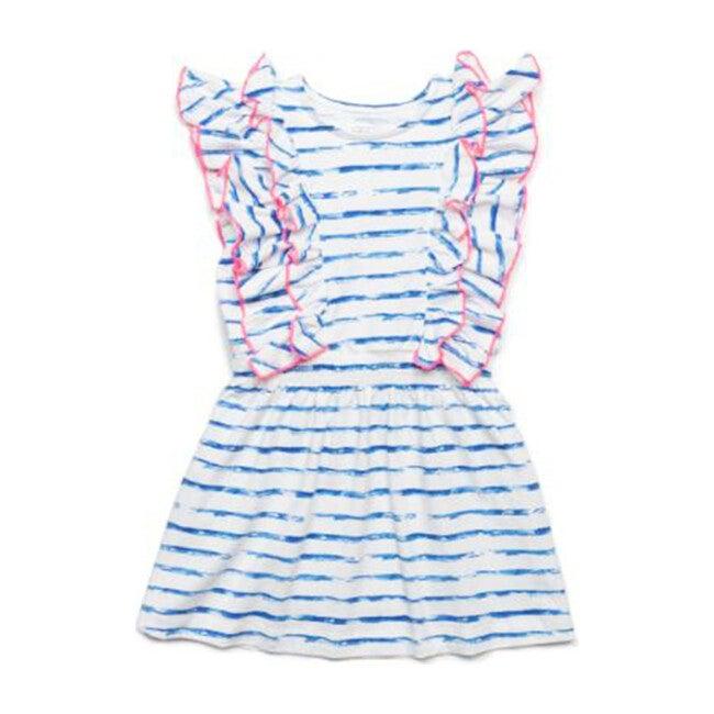 Priscilla Dress, Blue Stripes - Dresses - 1