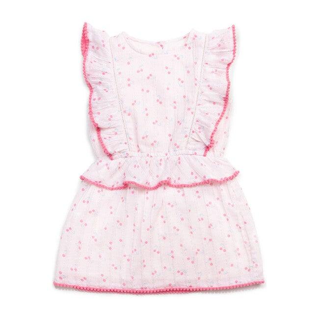 Clara Dress, Blush Cherry