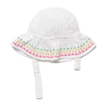 Fawn Embroidered Hat, White