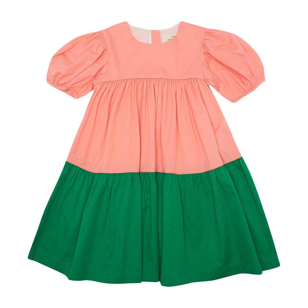 Tiery Eyed Dress, Juicy Peach