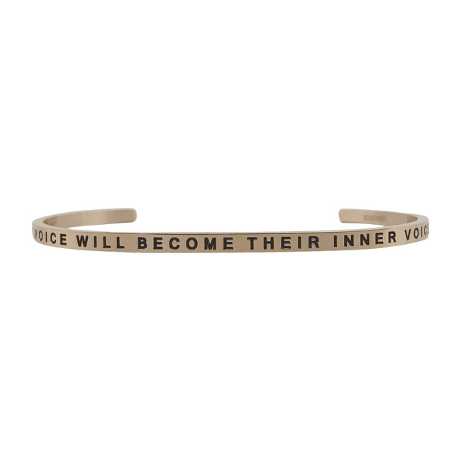 """Women's """"My Voice Will Become Their Inner Voice"""" Bracelet, Rose Gold"""