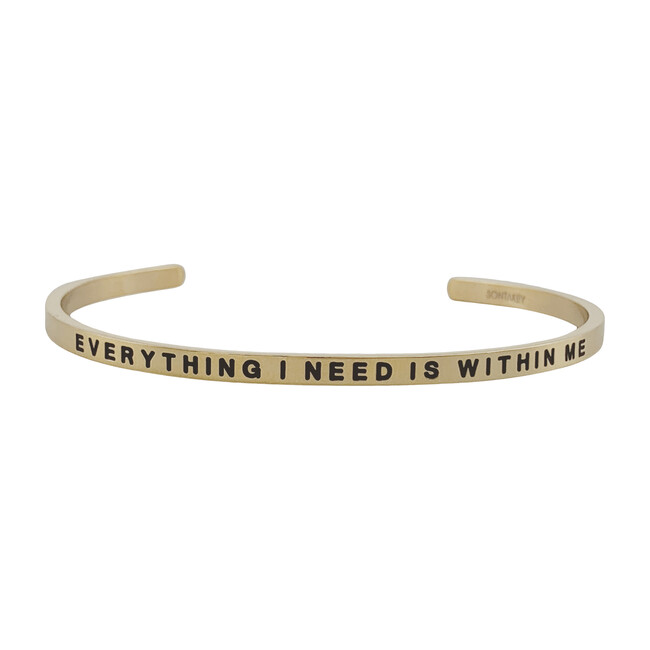 """Women's """"Everything I Need is Within Me """" Bracelet, Gold"""