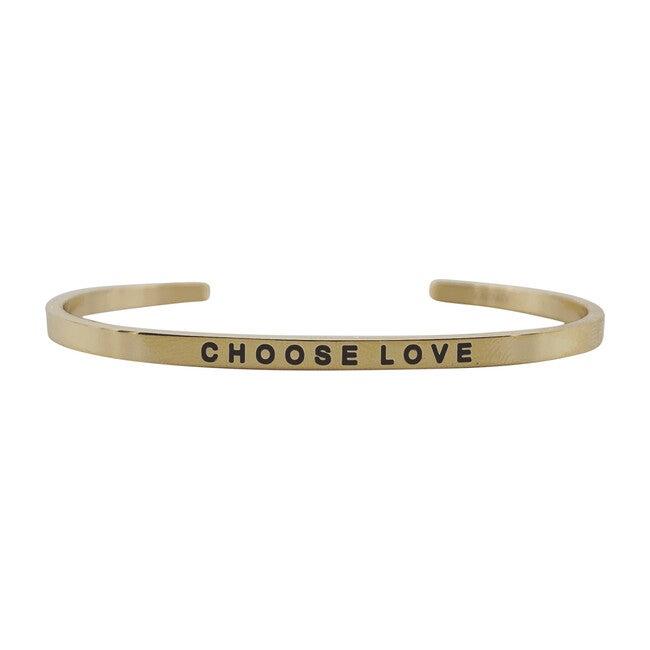 "Women's ""Choose Love"" Bracelet, Gold"