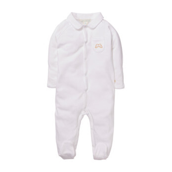 Angel Wing Sleepsuit With Mittens, White