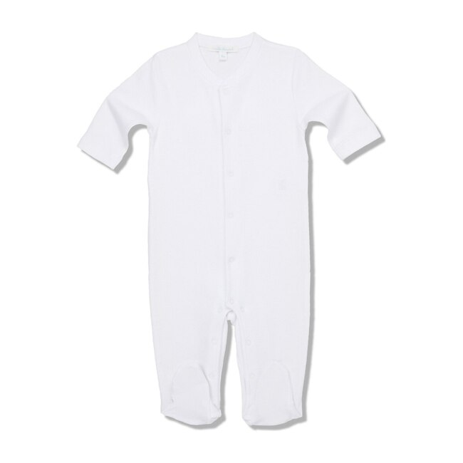 Pointelle Angel Wing Sleepsuit, White