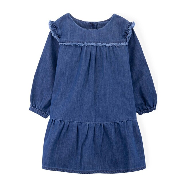 Clementine Dress, Navy Denim - Dresses - 1