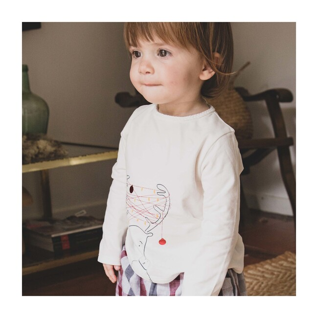 Clarice Baby Long Sleeve T-Shirt, Pearl