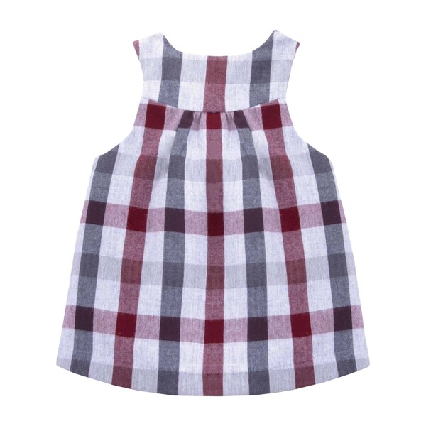 Loretta Baby Pinafore Dress, Plaid