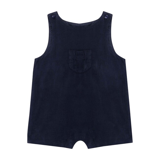Chris Baby Romper, Dark Slate Blue