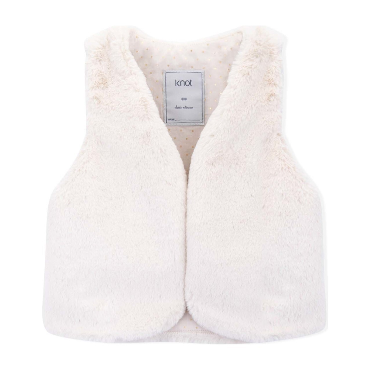 Miranda Faux Fur Vest, Moonbeam Sand
