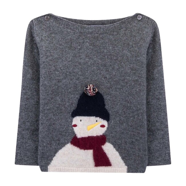 Meet Kevin Baby Knitted Sweater, Cloudburst Grey - Sweaters - 1