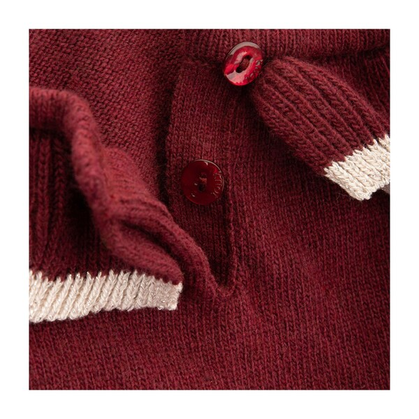 Bridget Knitted Sweater, Tawny Port Bordeaux