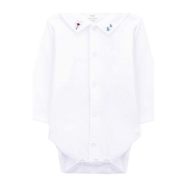 Olaf Long Sleeve Baby Body, White