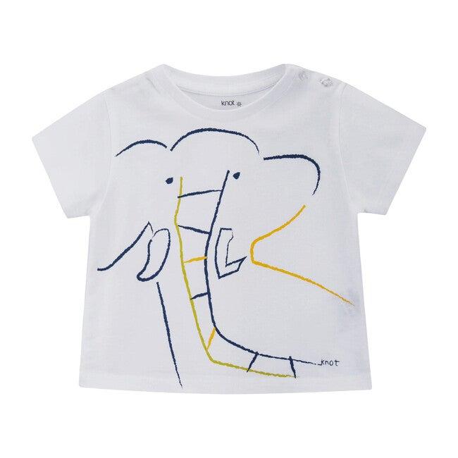 Elephant T-shirt, White
