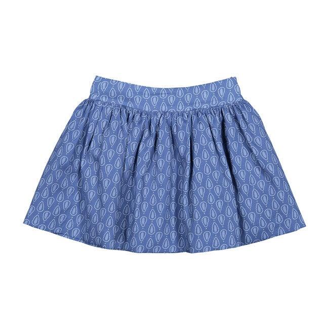 Ruffle Skirt, Blue Pattern - Skirts - 1