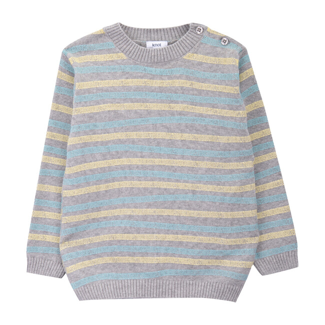 Knitted Sweater, Stripes - Sweaters - 1
