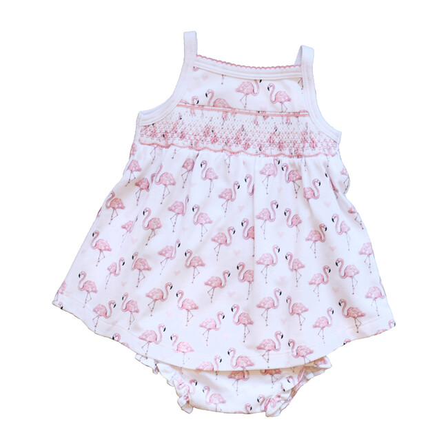 Pink Flamingo Smocked Dress